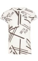 River Island White New York La Paris Print Tshirt - Lyst