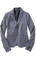 Gap Classic Stripe Jacquard Blazer - Lyst