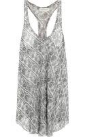 Balmain Printed Silk-chiffon Top - Lyst