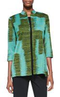 Misook Long Matisse 3/4sleeve Jacket - Lyst