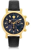 Versace Black and Gold Womens Chronograph Watch - Lyst