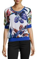 Alberto Makali Floral Scoop-neck Blouse - Lyst