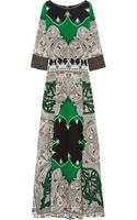 Etro Embellished Printed Silk Crepe De Chine Maxi Dress - Lyst