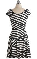 ModCloth Print and Proper Dress - Lyst