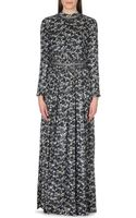 Tory Burch Stephanie Floral Print Silk Blend Dress - Lyst