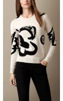 Burberry Flower Intarsia Wool Cashmere Sweater - Lyst