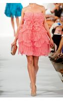 Oscar de la Renta Layered Tulle and Silk Dress - Lyst