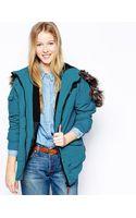 Bellfield Padded Jacket with Faux Fur Hood - Lyst