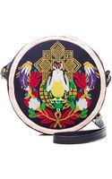 Mary Katrantzou Embroidered Leather Shoulder Bag - Lyst