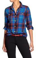 Old Navy Plaid Flannel Shirts - Lyst