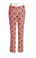 Michael by Michael Kors Printed Skinny Ankle Pants - Lyst