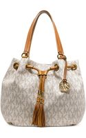 Michael Kors Michael Jet Set Item Large Signature Tote - Lyst