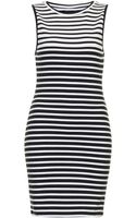 Topshop Petite Exclusive Stripe Bodycon Tunic - Lyst