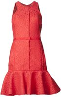 Lanvin Lace Flared Dress - Lyst