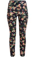 Erdem Cottonblend Floral Print Trousers - Lyst