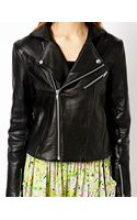 Y.a.s Clean Biker Jacket in Leather - Lyst