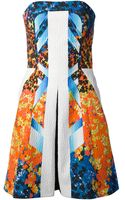 Peter Pilotto Strapless Aline Dress - Lyst