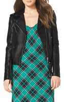 MICHAEL Michael Kors Leather Moto Jacket - Lyst