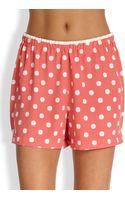 Natori Polka Dot Shorts - Lyst