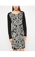 Oasis Dress with Contrast Sleeves - Lyst