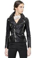 Alexander McQueen Nappa Leather Moto Jacket - Lyst