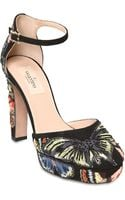 Valentino 110mm Butterfly Suede Sandals - Lyst