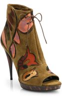 Burberry Prorsum Exclusive Handpainted Suede Ankle Boots - Lyst