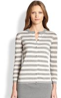Akris Punto Striped Knit Cardigan - Lyst