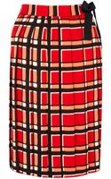 Marc By Marc Jacobs Red Toto Plaid Kilt - Lyst