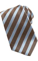 Kiton Woven Trackstripe Tie Brown - Lyst