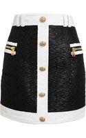 Balmain Bicolour Tweed Miniskirt - Lyst