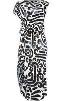 Vivienne Westwood Anglomania Quest Drape Print Dress - Lyst