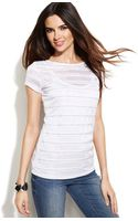 Inc International Concepts Studded Illusion-striped Top - Lyst