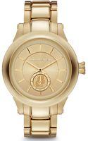 Karl Lagerfeld Goldtone Stainless Steel Bracelet Watch - Lyst