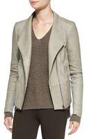 Vince Leather Cashmere Scuba Jacket - Lyst