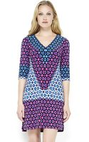 Donna Morgan Geometric Print Shift Dress - Lyst