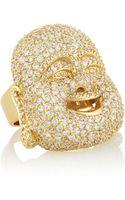 Noir Jewelry Buddha Goldtone Crystal Ring - Lyst