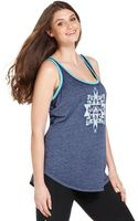 Jessica Simpson Plus Size Printed Tank Top - Lyst