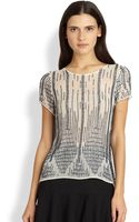 Parker Nomad Beaded Silk Top - Lyst