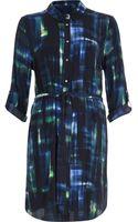 River Island Green Print Shirt Dress - Lyst