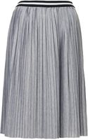 Topshop Womens Jersey Pleated Sporty Midi Skirt Grey Marl - Lyst