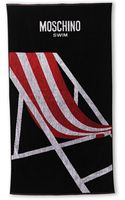 Moschino Black  Red Printed Beach Towel - Lyst