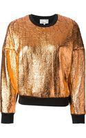 3.1 Phillip Lim Metallic Sweatshirt - Lyst