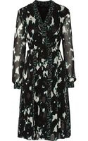 Proenza Schouler Printed Silk-chiffon Dress - Lyst
