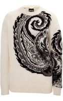 Just Cavalli Woolmohair Paisley Pullover - Lyst