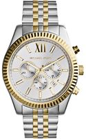 Michael Kors Midsize Twotone Stainless Steel Lexington Chronograph Watch - Lyst