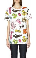 Moschino Printed Cotton T-shirt - Lyst
