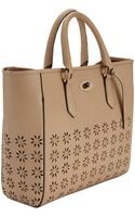 Clarks Cutout Leather Tote Bag - Lyst