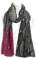 Diane Von Furstenberg Hanovar Snake 100x200 Stole - Lyst