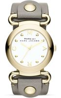 Marc By Marc Jacobs Molly Gravel Gray Leather Strap Watch 36mm - Lyst